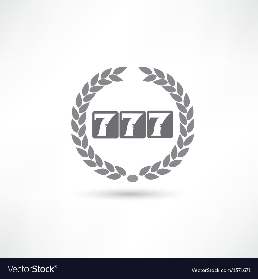 777 icon vector | Price: 1 Credit (USD $1)