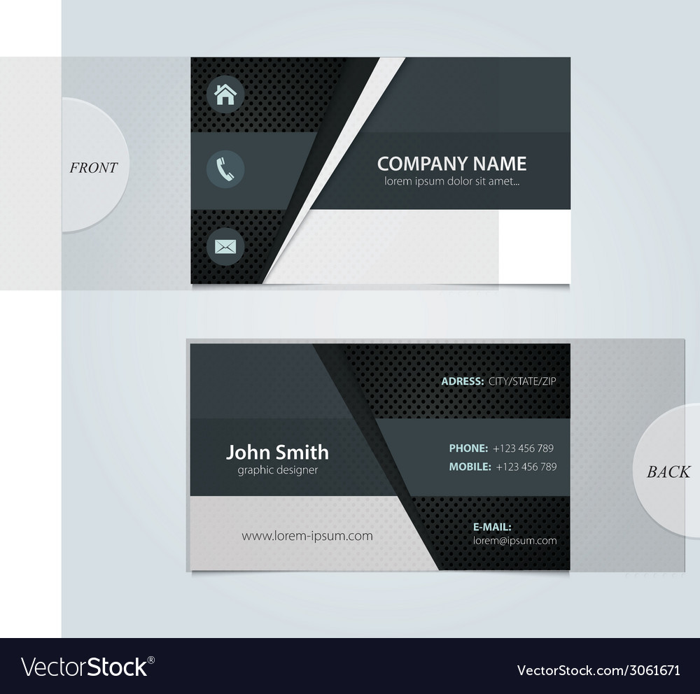Abstract business cards vector | Price: 1 Credit (USD $1)