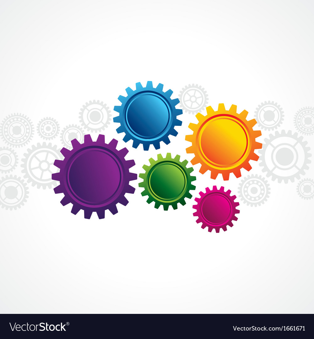 Abstract design with copy space in cog wheel vector | Price: 1 Credit (USD $1)