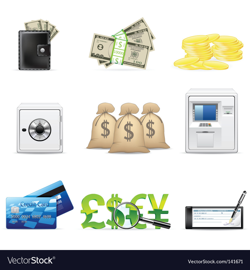 Banking and finance icon set vector | Price: 1 Credit (USD $1)
