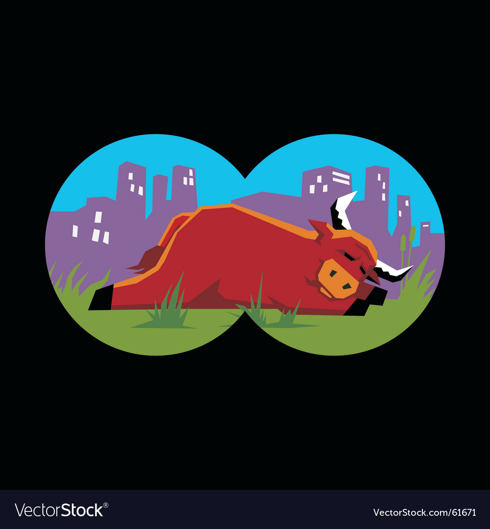 Bull sleeping vector | Price: 1 Credit (USD $1)