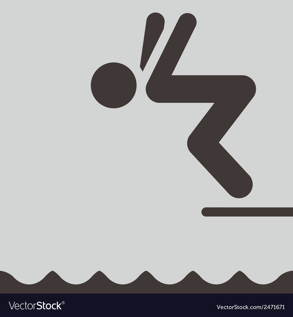 Diving icon vector | Price: 1 Credit (USD $1)