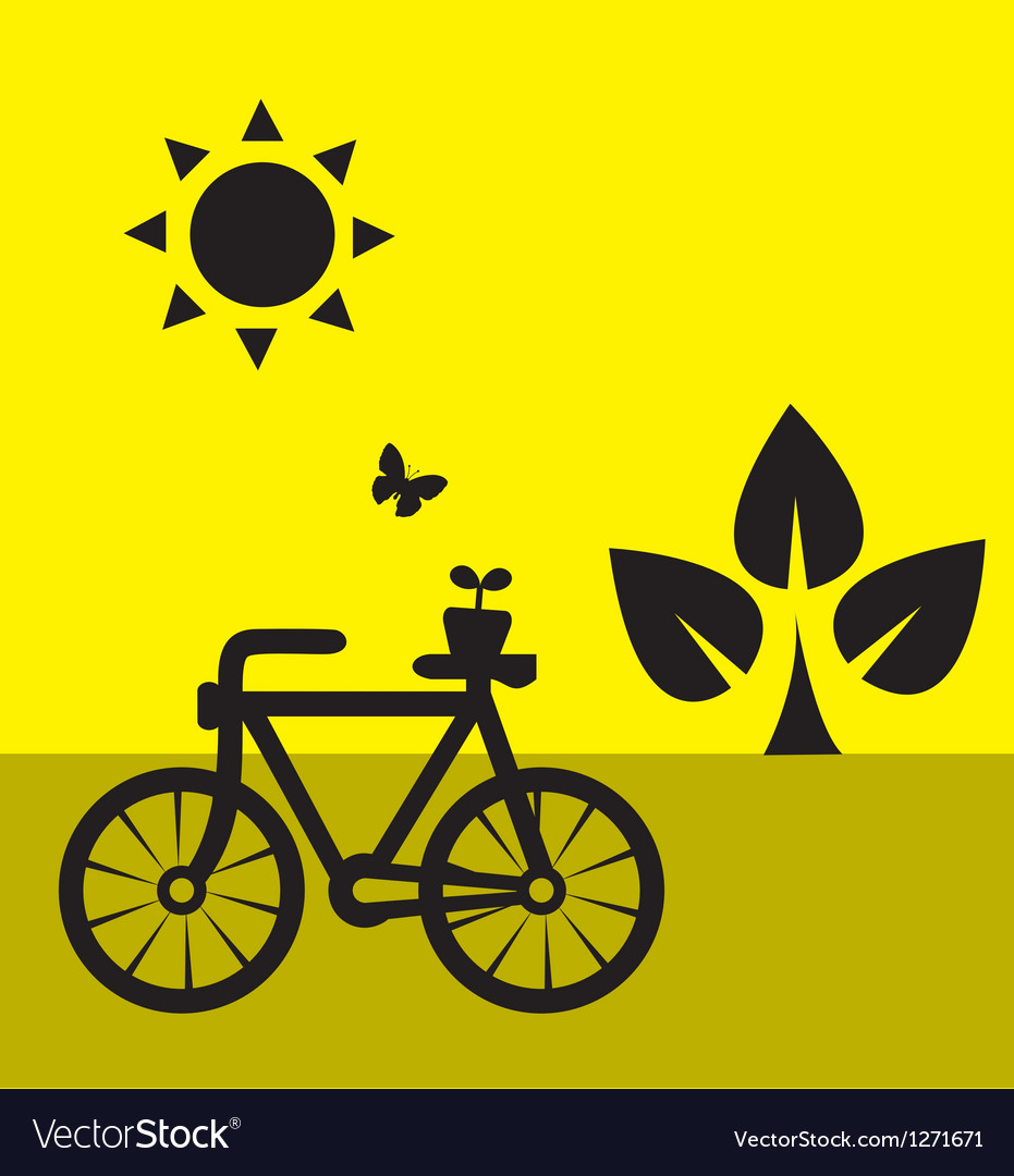 Ecology cycling vector | Price: 1 Credit (USD $1)