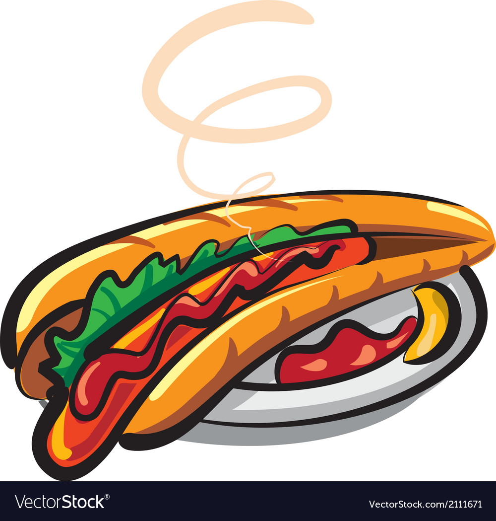 Fresh hotdog vector | Price: 1 Credit (USD $1)