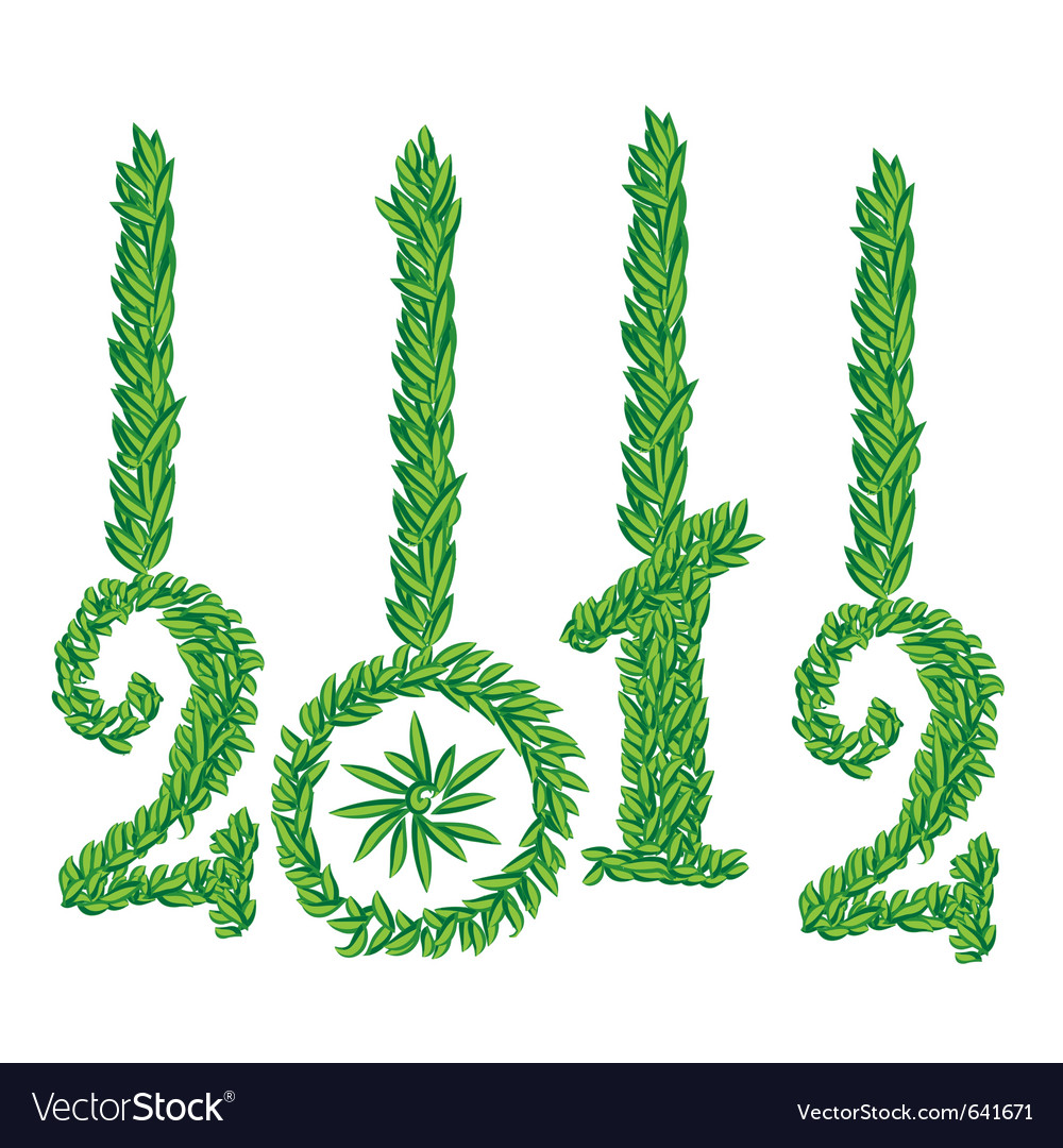 Happy new year 2012 greeting card vector | Price: 1 Credit (USD $1)