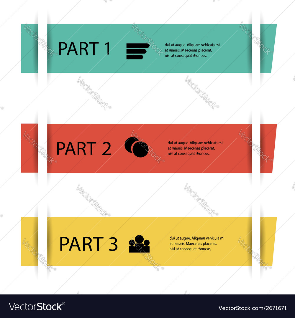 Info graphic element vector | Price: 1 Credit (USD $1)
