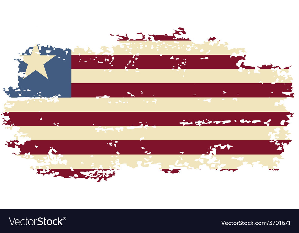 Liberian grunge flag vector | Price: 1 Credit (USD $1)
