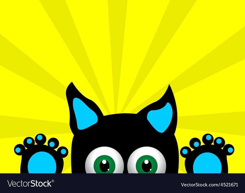 Little surprised kitten vector | Price: 1 Credit (USD $1)