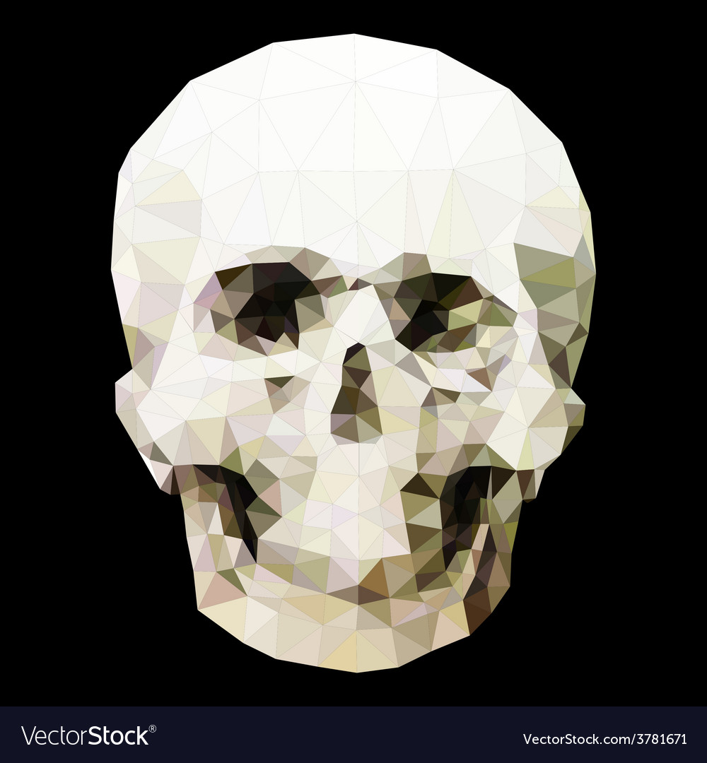 Low poly crystal skull vector | Price: 1 Credit (USD $1)