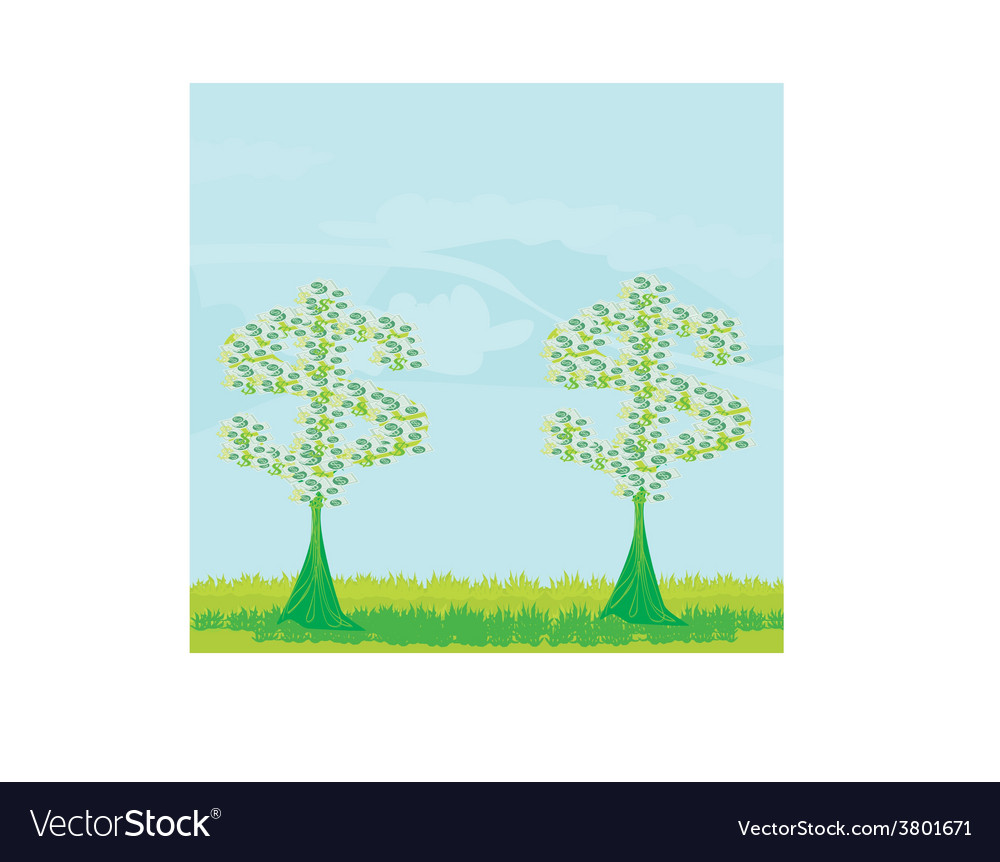 Money growing on trees - abstract card vector | Price: 1 Credit (USD $1)