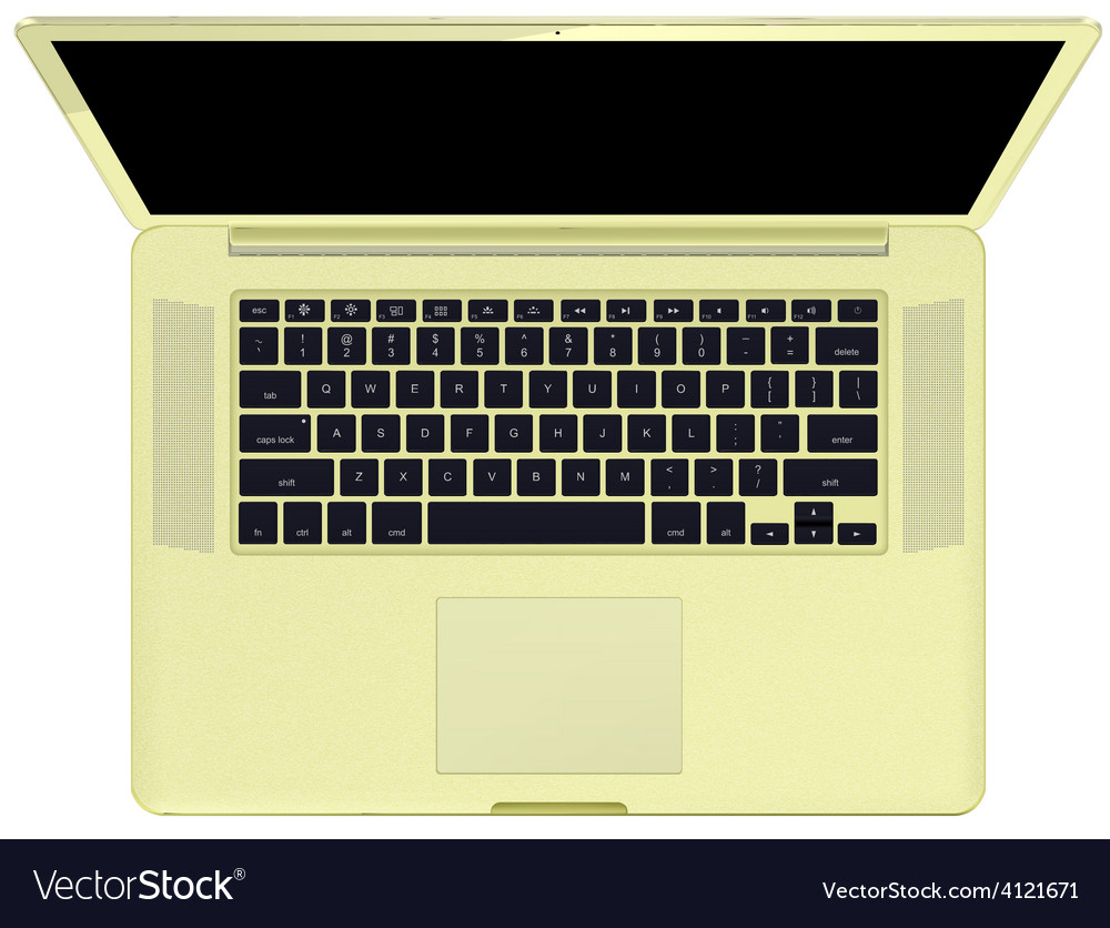 Notebook gold vector | Price: 1 Credit (USD $1)