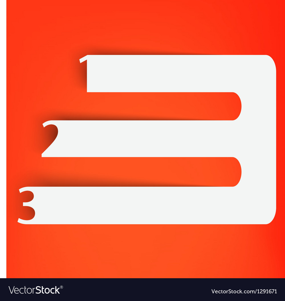 Numbered banners vector   Price: 1 Credit (USD $1)