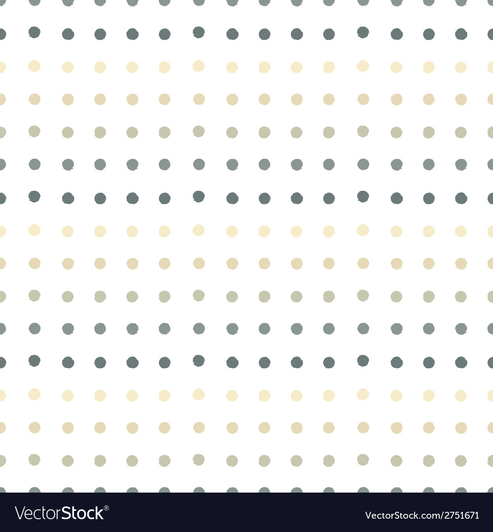 Painted polka dots seamless pattern vector | Price: 1 Credit (USD $1)