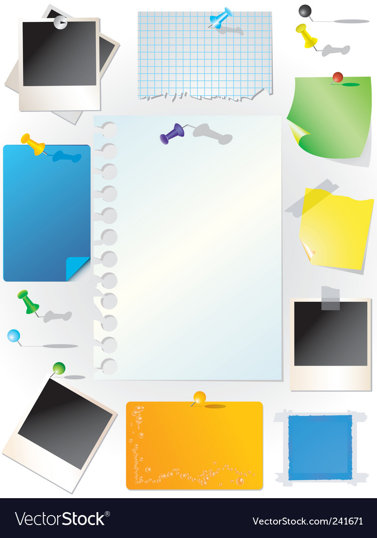Set of note papers vector | Price: 1 Credit (USD $1)