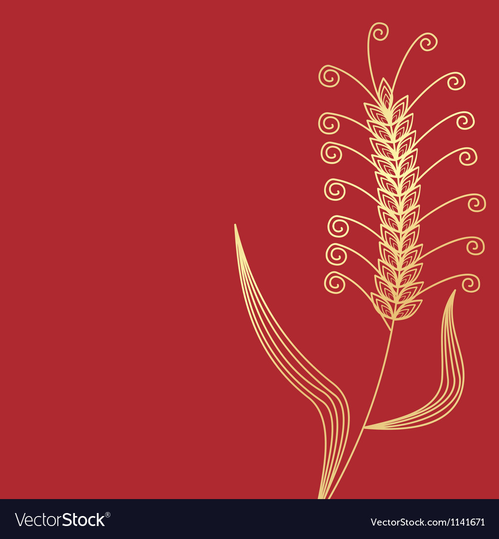 Wheat gold vector | Price: 1 Credit (USD $1)