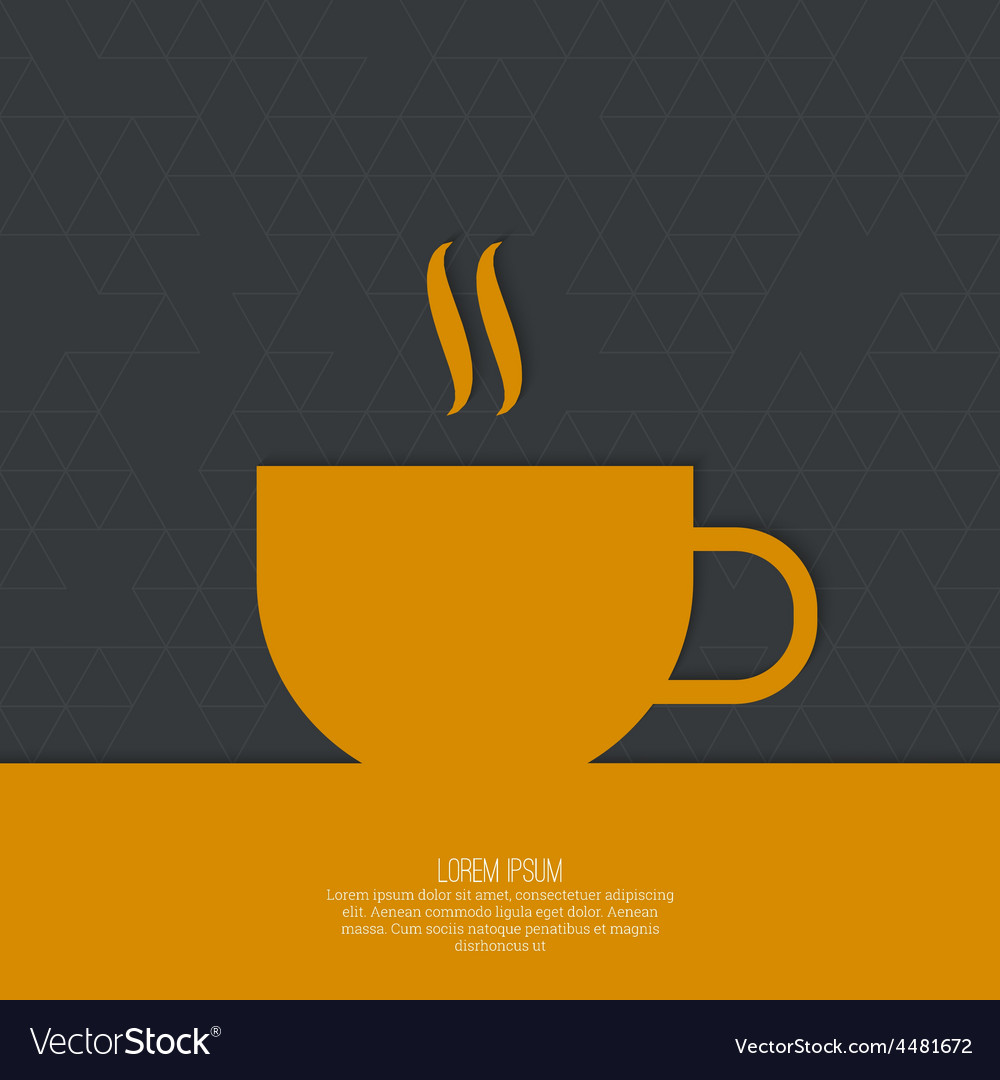 Abstract background with a cup vector | Price: 1 Credit (USD $1)
