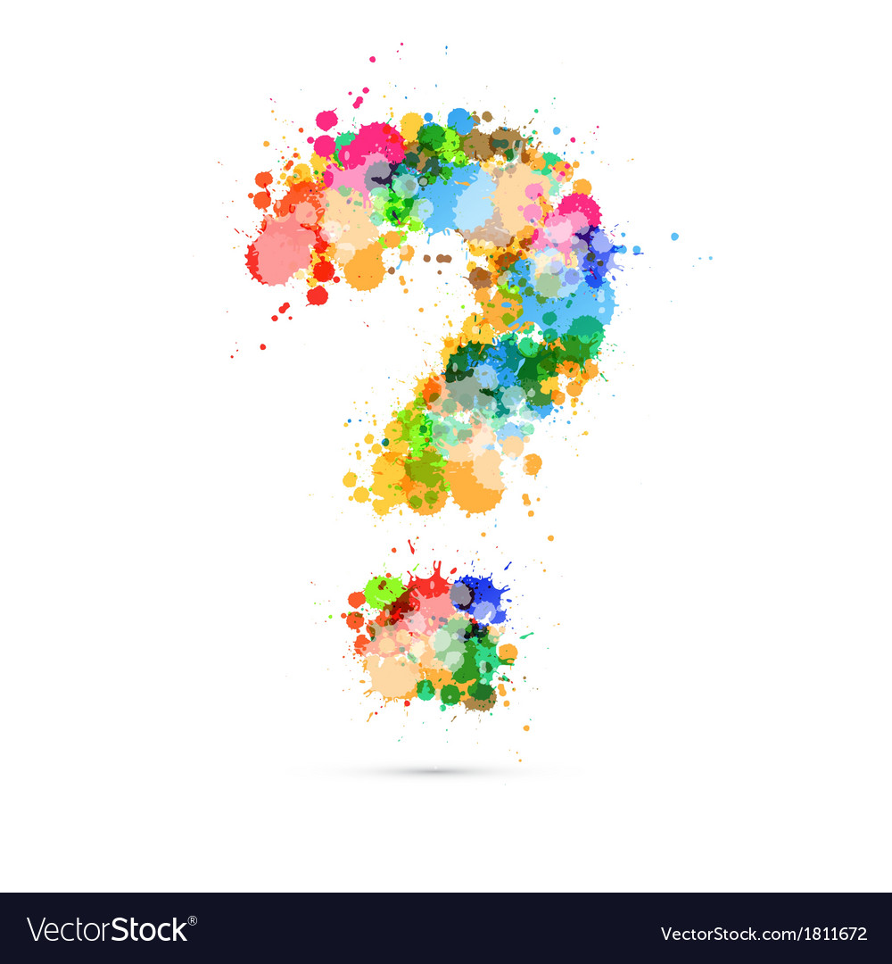 Abstract question mark colorful symbol vector | Price: 1 Credit (USD $1)