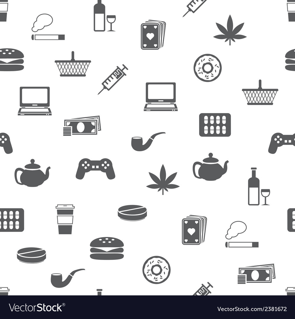 Addiction seamless pattern vector | Price: 1 Credit (USD $1)