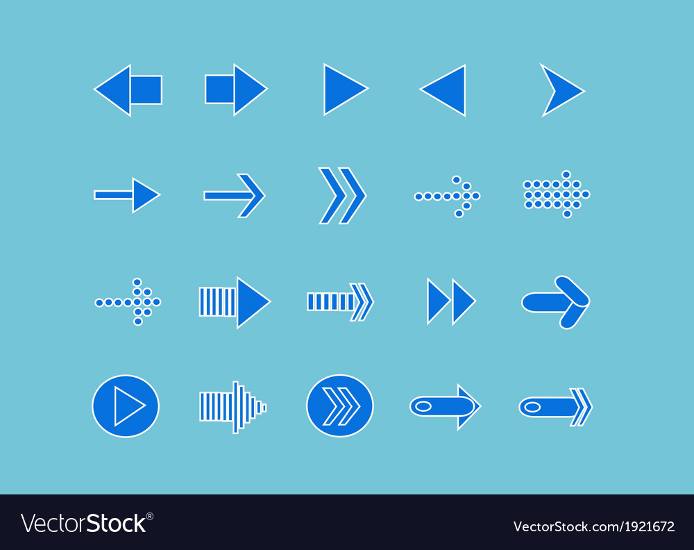 Arrow icons for web vector | Price: 1 Credit (USD $1)