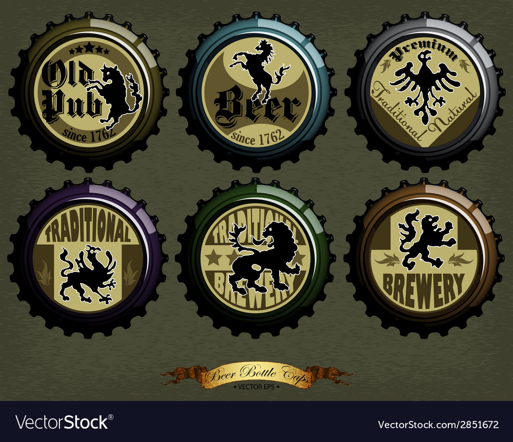 Beer cap designs vector | Price: 1 Credit (USD $1)