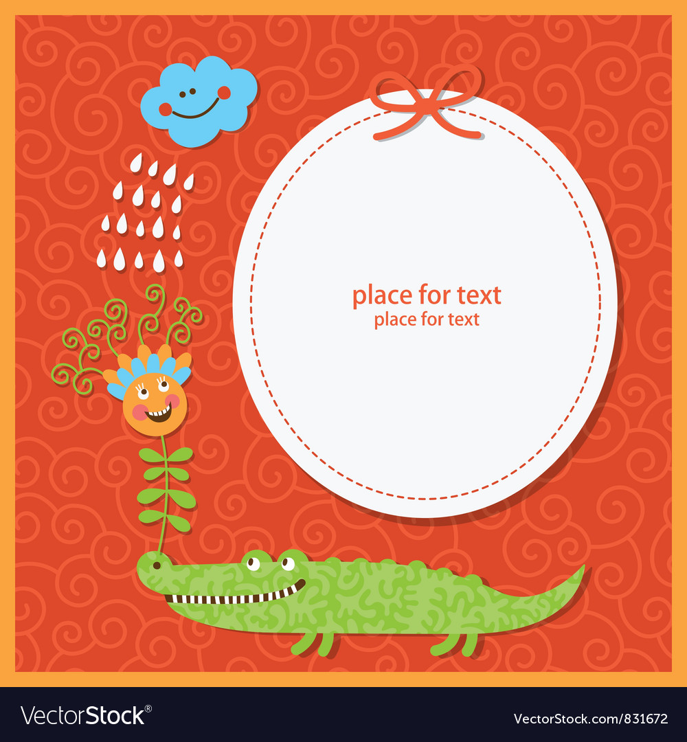 Cute children greeting card vector | Price: 1 Credit (USD $1)