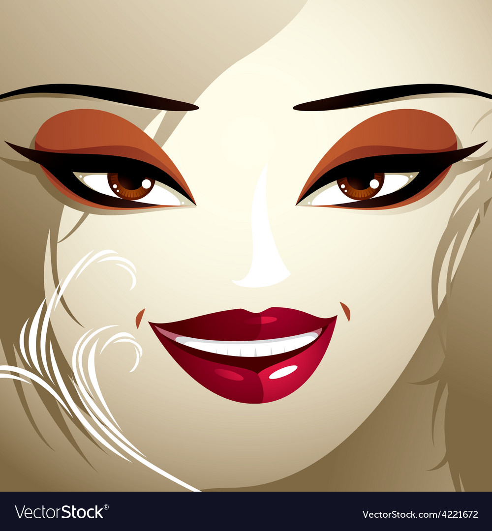 Emotional expression on the face of a cute girl vector   Price: 1 Credit (USD $1)