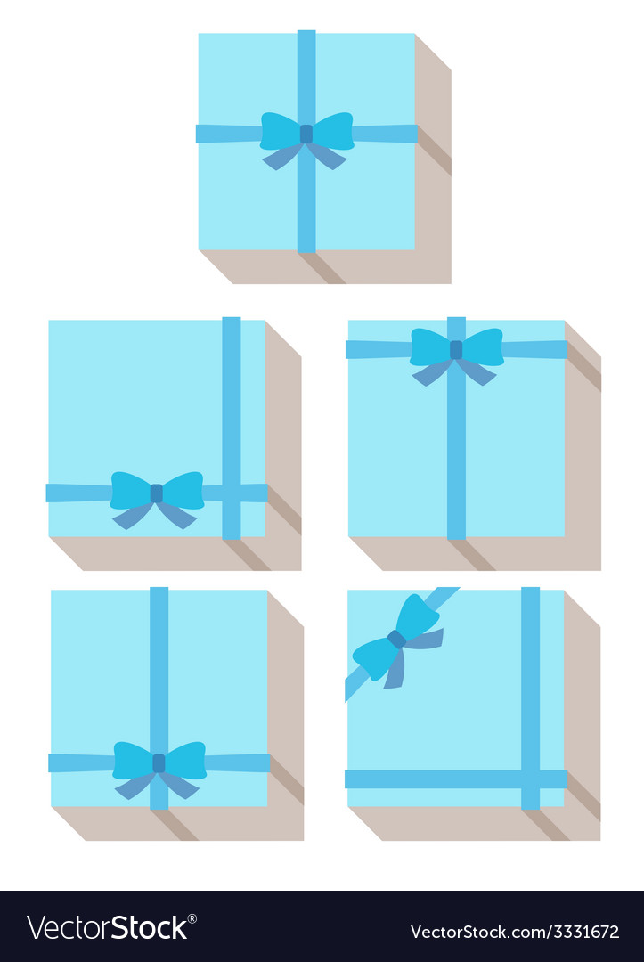 Flat style wrapped gift or gift card vector | Price: 1 Credit (USD $1)