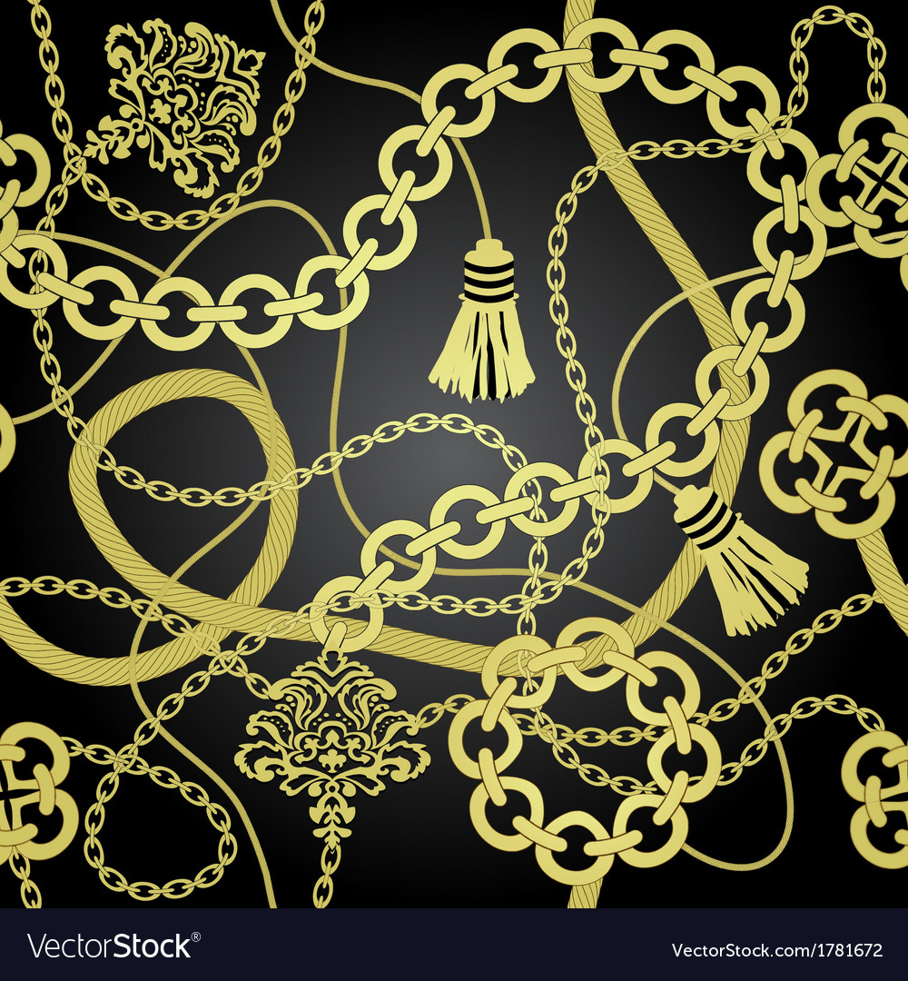 Gold chain seamless background vector | Price: 1 Credit (USD $1)
