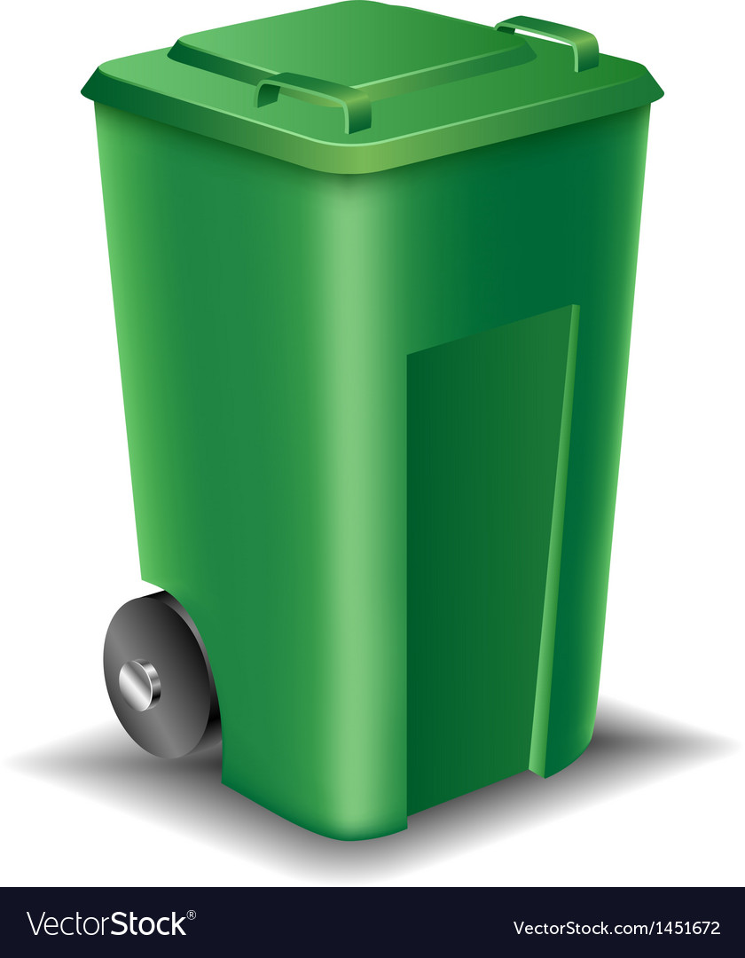 Green street trash can vector | Price: 1 Credit (USD $1)