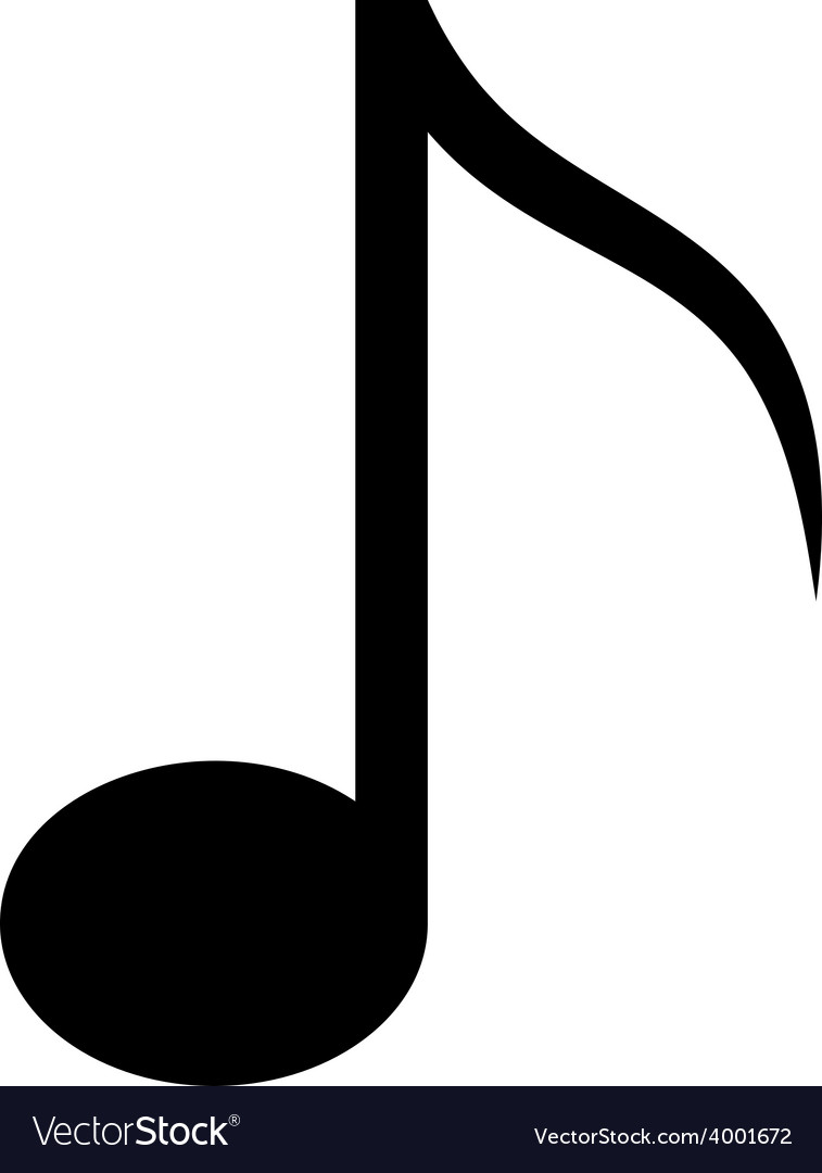 Icon of music note vector | Price: 1 Credit (USD $1)