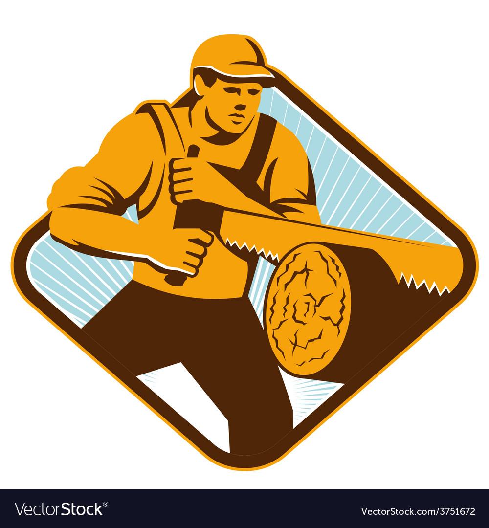 Lumberjack crosscut saw vector | Price: 1 Credit (USD $1)
