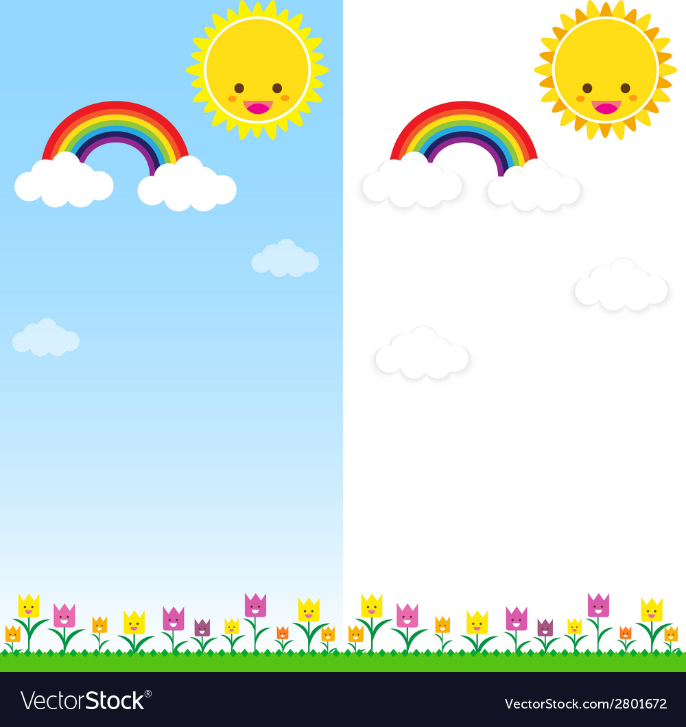 Sun rainbow and cloud 001 vector | Price: 1 Credit (USD $1)