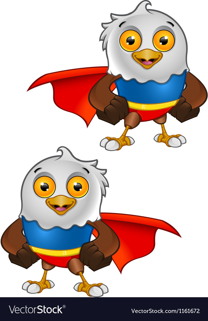 Super bald eagle character 1 vector | Price: 1 Credit (USD $1)