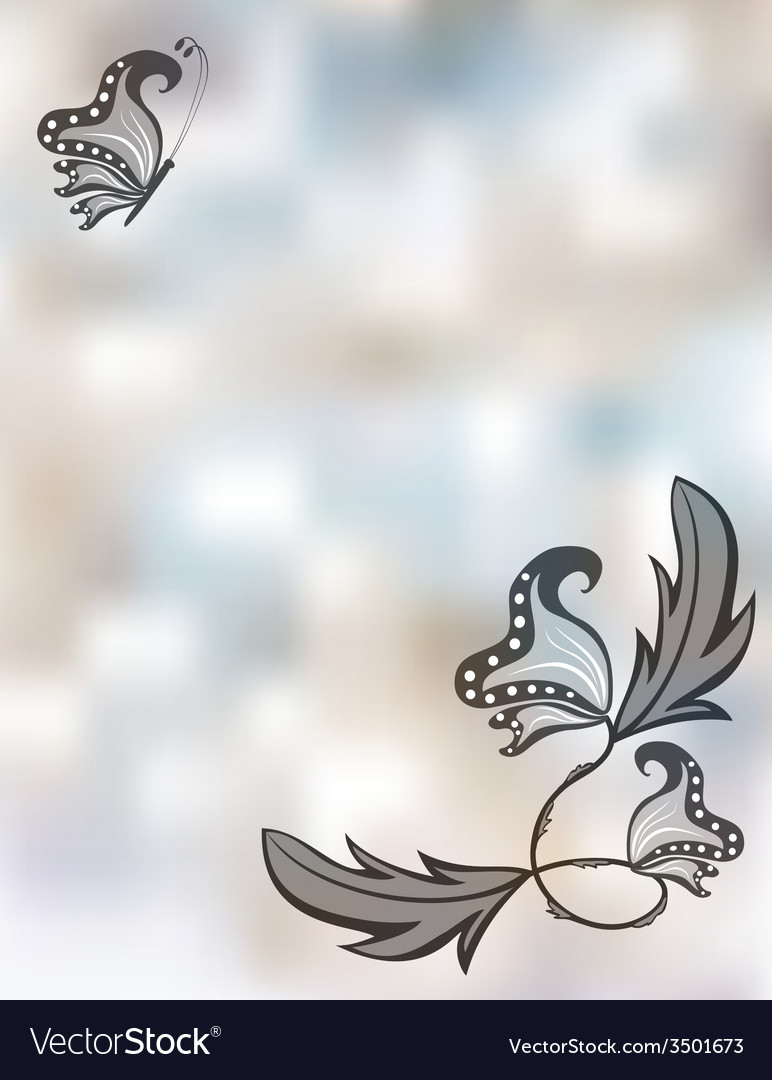 Abstract pastel background with butterflies vector | Price: 1 Credit (USD $1)
