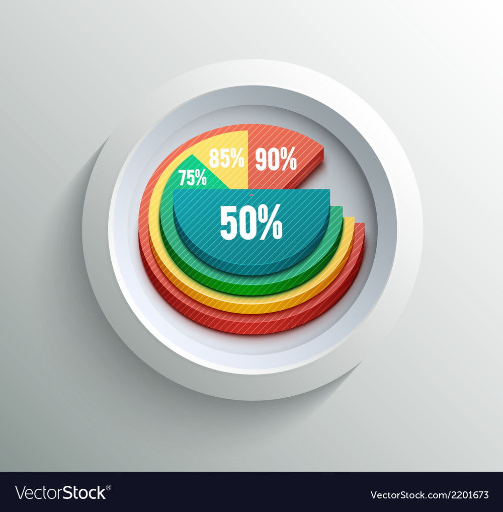 Business pie chart vector | Price: 1 Credit (USD $1)