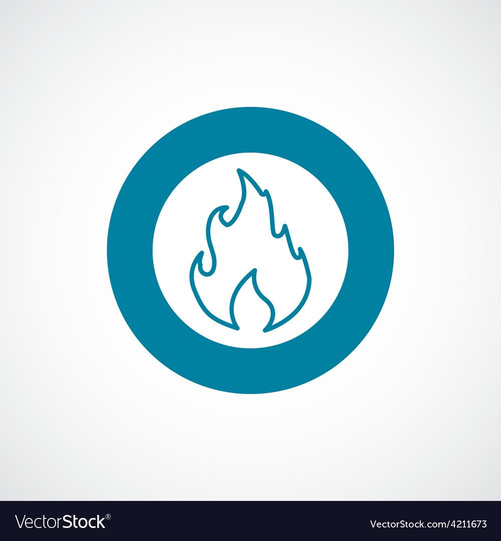 Fire icon bold blue circle border vector | Price: 1 Credit (USD $1)