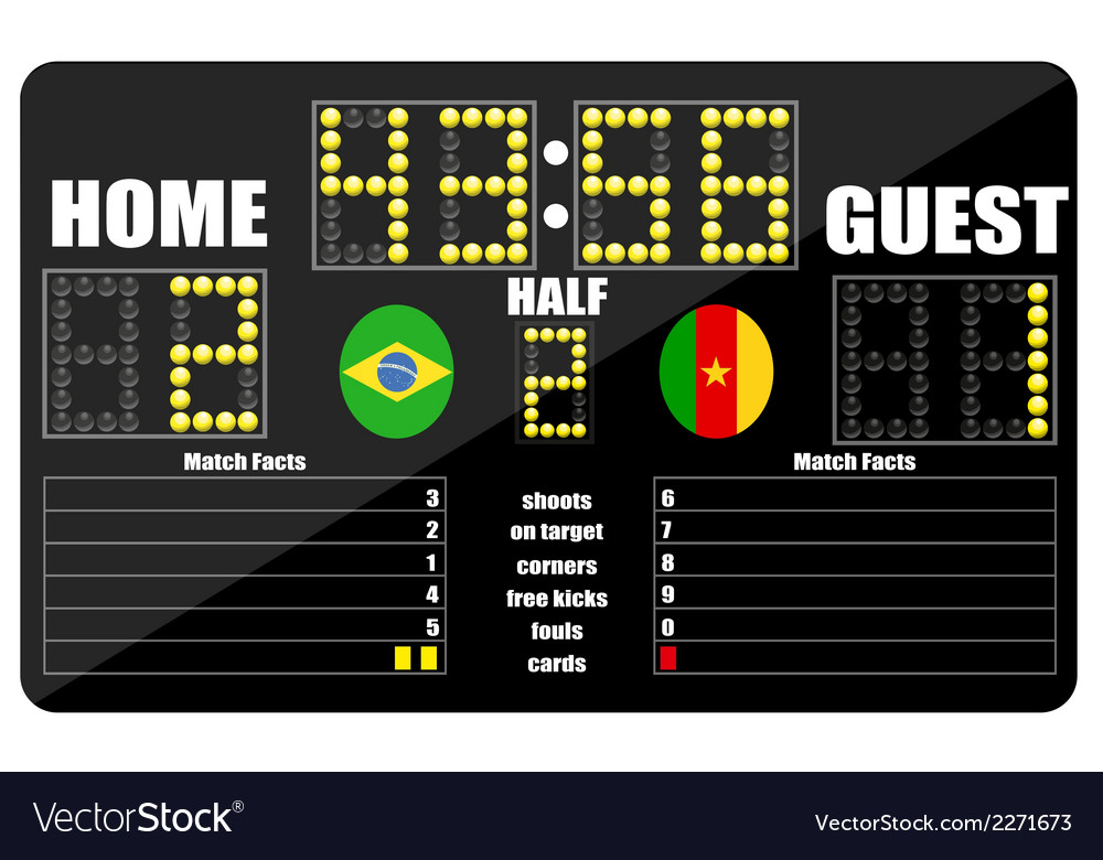 Football scoreboard vector | Price: 1 Credit (USD $1)