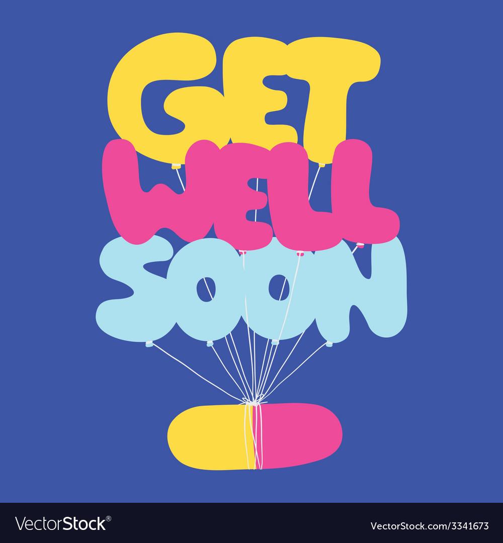Get well soon postcard vector | Price: 1 Credit (USD $1)