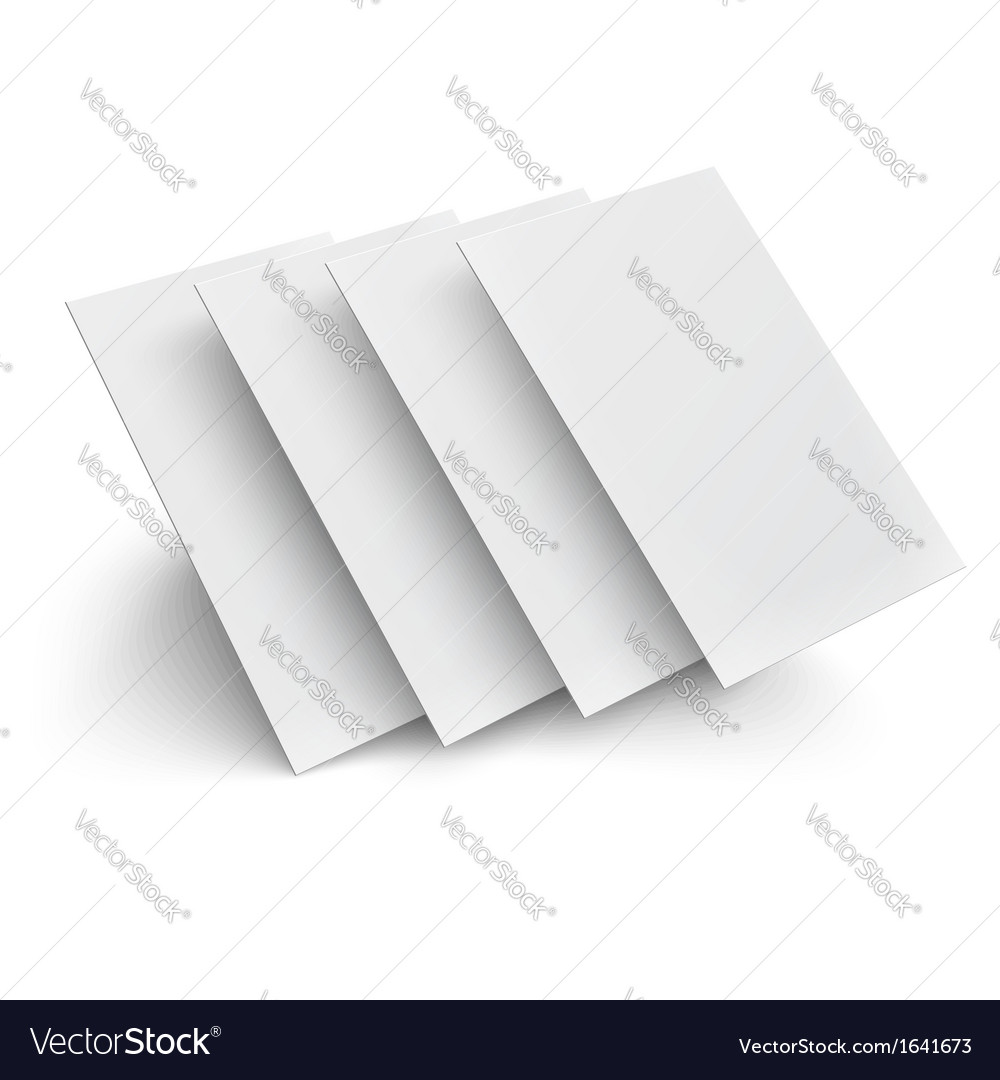 Hover blank pages on white background vector | Price: 1 Credit (USD $1)