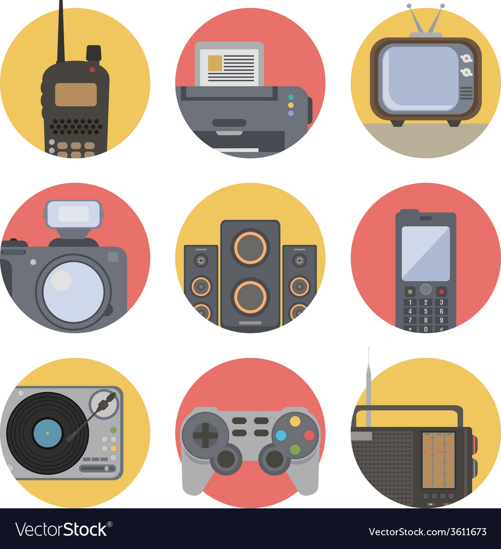 Media technology vector | Price: 1 Credit (USD $1)
