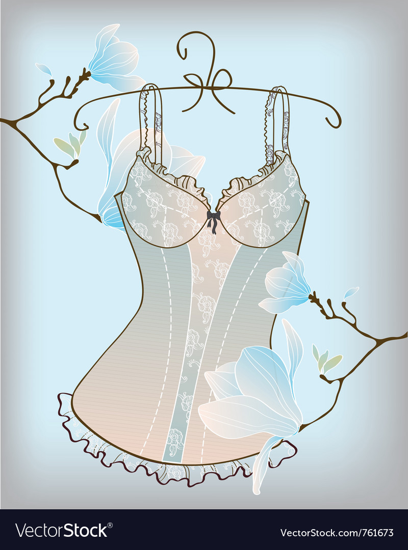 Romantic lingerie vector | Price: 1 Credit (USD $1)
