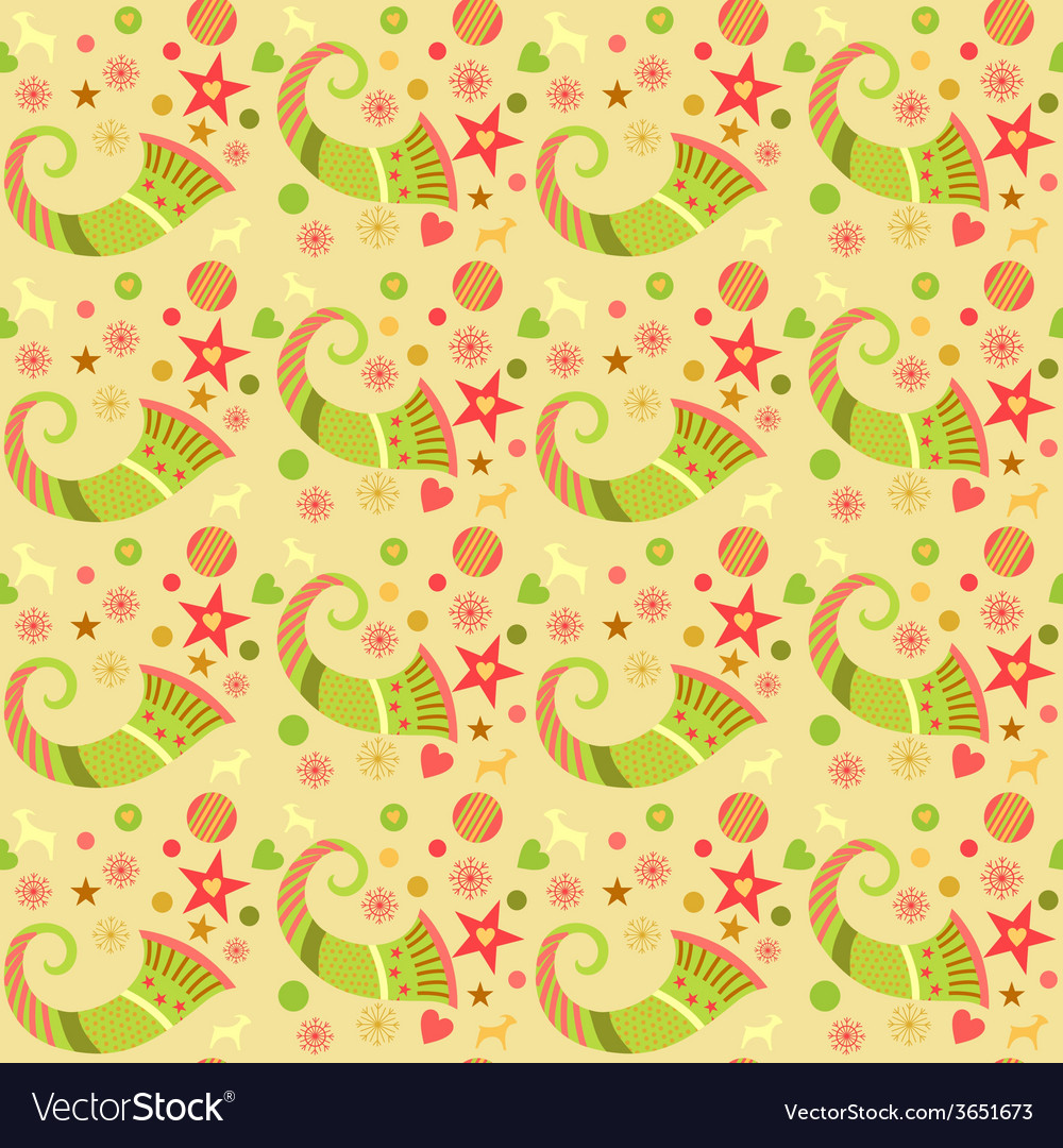 Seamless pattern christmas wrapping paper for vector | Price: 1 Credit (USD $1)