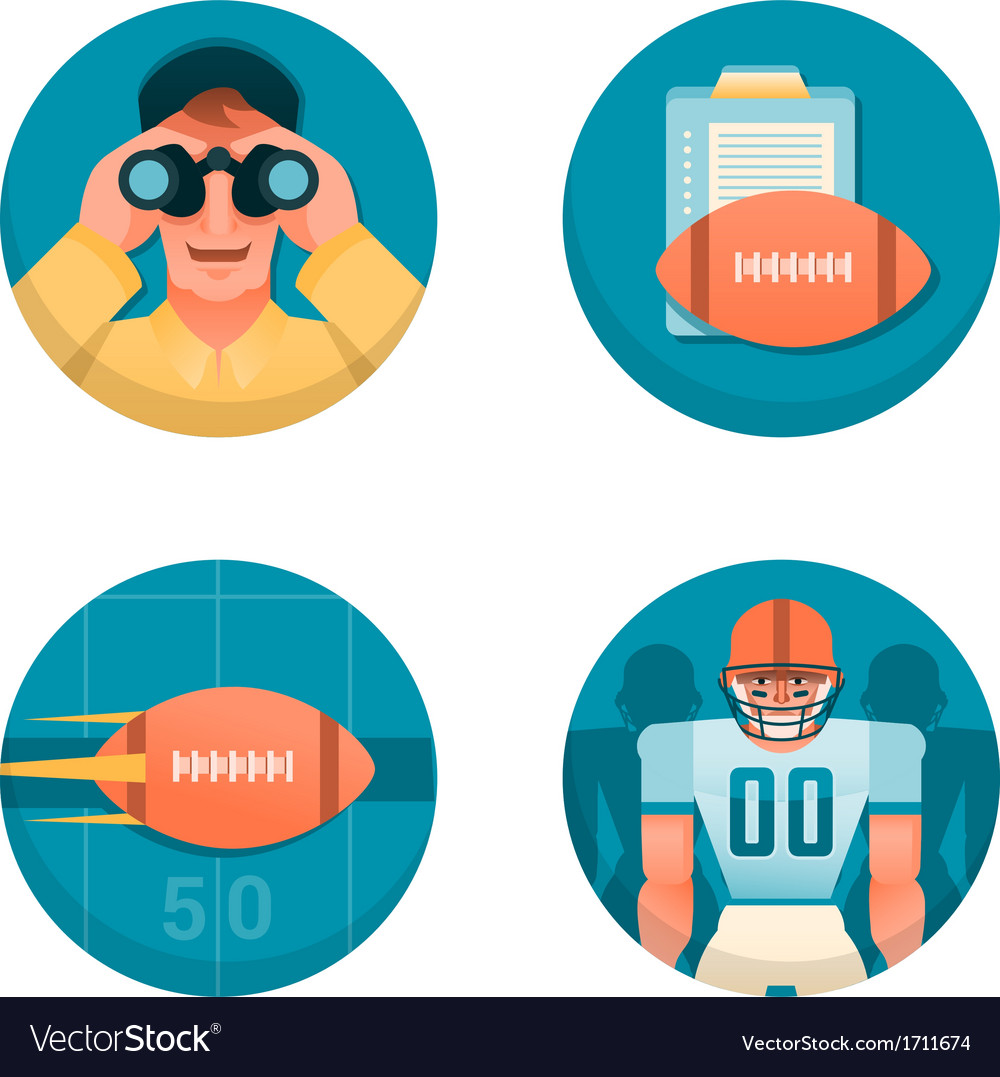 American football part 1 vector | Price: 1 Credit (USD $1)