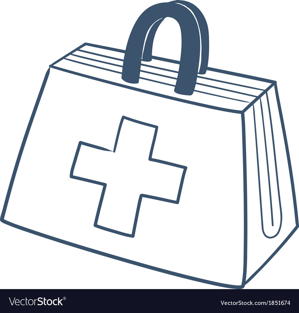 Doctors first aid kit isolated on white vector | Price: 1 Credit (USD $1)