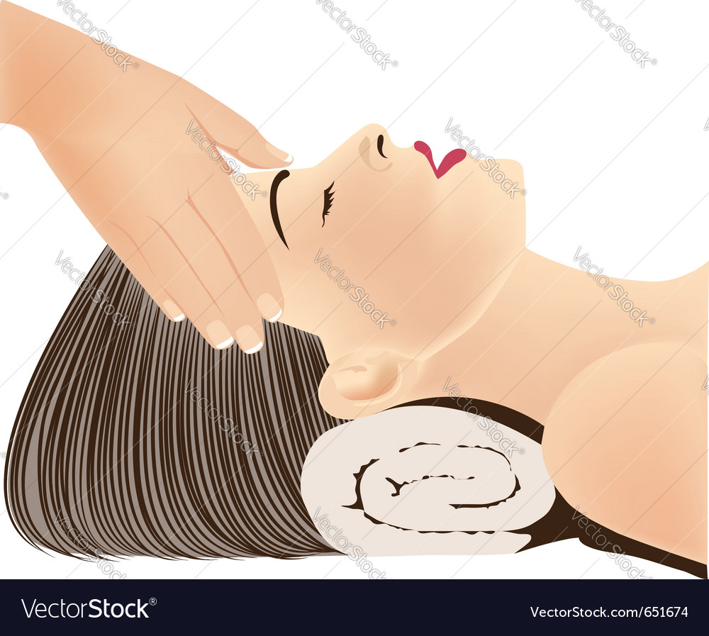 Face massage vector | Price: 1 Credit (USD $1)