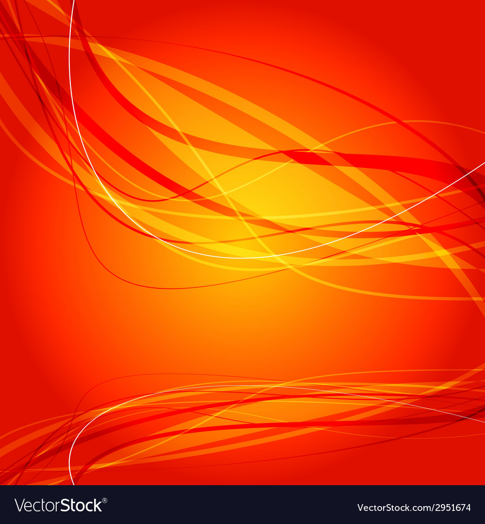 Orange wave curve background vector | Price: 1 Credit (USD $1)