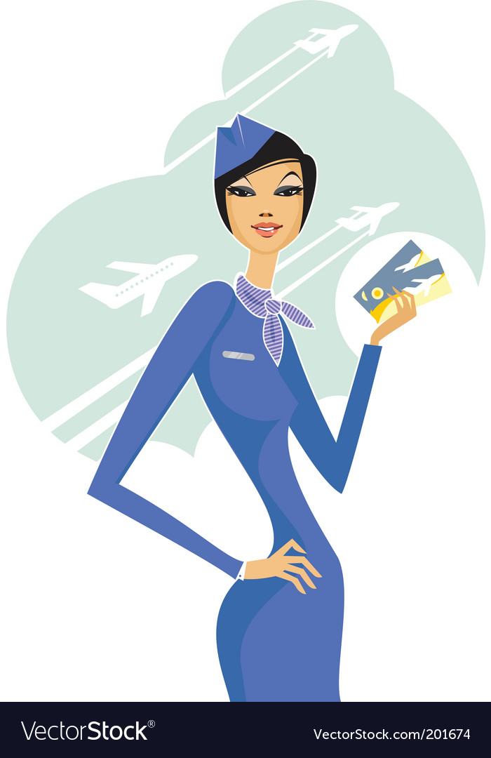 Stewardess vector | Price: 3 Credit (USD $3)
