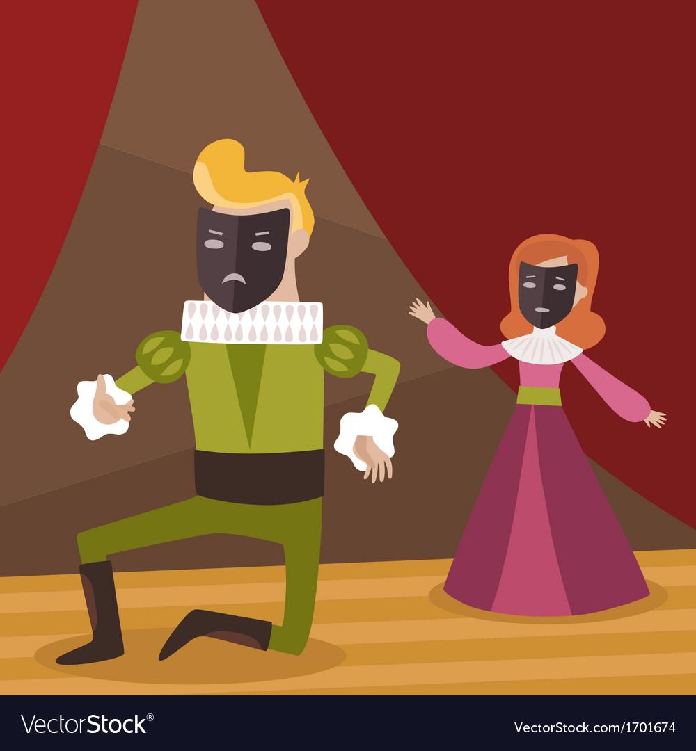 Theatre scene vector | Price: 1 Credit (USD $1)