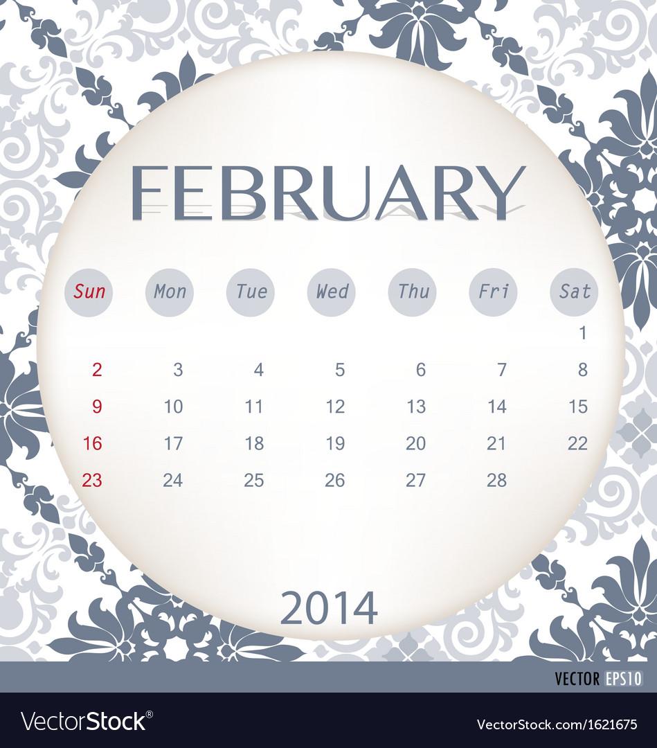2014 calendar vintage calendar template for vector | Price: 1 Credit (USD $1)
