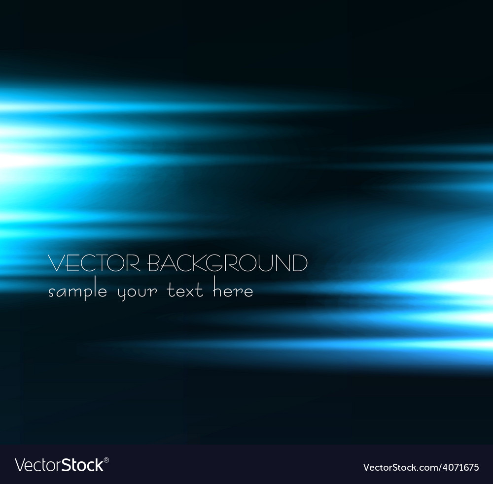 Abstract dark background with blue color light vector | Price: 1 Credit (USD $1)
